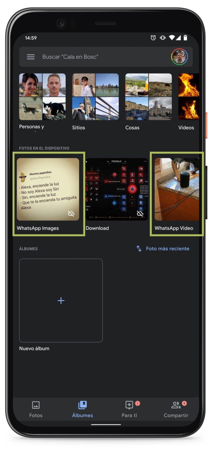 Carpetas WhatsApp Images y WhatsApp Vídeos